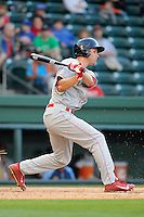 Infielder Mitch Walding (10) of the Lakewood BlueClaws in a game against the Greenville Drive on Wednesday, April 24, 2013, at Fluor Field at the West End in Greenville, South Carolina. Walding is the No. 16 prospect for the Philadelphia Phillies, according to Baseball America. (Tom Priddy/Four Seam Images)