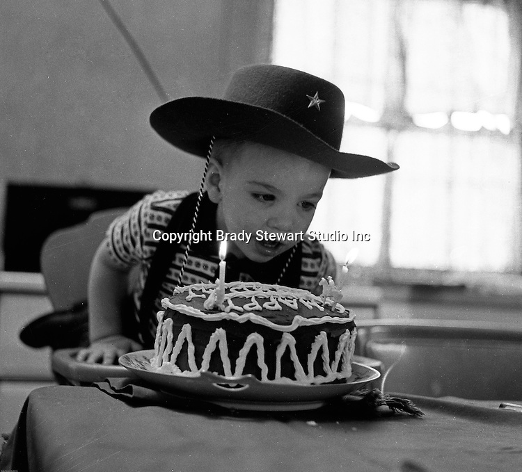 Bethel Park PA:  Michael Stewart blowing out the candles on his birthday cake.