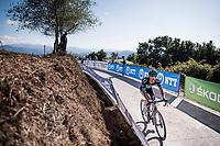 Rafał Majka (POL/BORA-hansgrohe) in the race finale<br /> <br /> Stage 15: Tineo to Santuario del Acebo (154km)<br /> La Vuelta 2019<br /> <br /> ©kramon