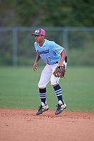 Matthew Polk (13) during the WWBA World Championship at Lee County Player Development Complex on October 9, 2020 in Fort Myers, Florida.  Matthew Polk, a resident of Long Beach, California who attends Orange Lutheran High School.  (Mike Janes/Four Seam Images)