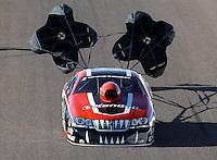 Feb. 22, 2013; Chandler, AZ, USA; NHRA pro stock driver V. Gaines during qualifying for the Arizona Nationals at Firebird International Raceway. Mandatory Credit: Mark J. Rebilas-