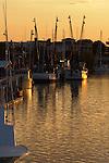 Sunset and Shrimp boats on Shem Creek in Mt Pleasant South Carolina