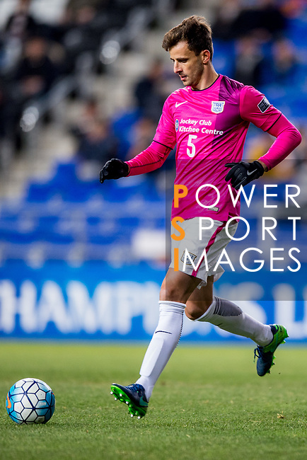 Kitchee Defender Helio Jose De Souza in action during their AFC Champions League 2017 Playoff Stage match between Ulsan Hyundai FC (KOR) vs Kitchee SC (HKG) at the Ulsan Munsu Football Stadium on 07 February 2017 in Ulsan, South Korea. Photo by Chung Yan Man / Power Sport Images