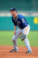 Mobile BayBears first baseman Jon Griffin #45 during a game against the Montgomery Biscuits on April 16, 2013 at Riverwalk Stadium in Montgomery, Alabama.  Montgomery defeated Mobile 9-3.  (Mike Janes/Four Seam Images)