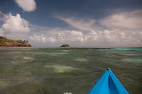 Kayaking Towards Paddy's Island from Turtle Island, Yasawa Islands, Fiji