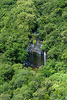 NGARDMAU WATERFALL AERIAL PALAU Micronesia, This is Palau's largest waterfall surrounded by lush rainforest