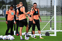 Courtney Baker-Richardson (right) of Swansea City during the Swansea City Training Session at The Fairwood Training Ground, Wales, UK. Tuesday 11th September 2018