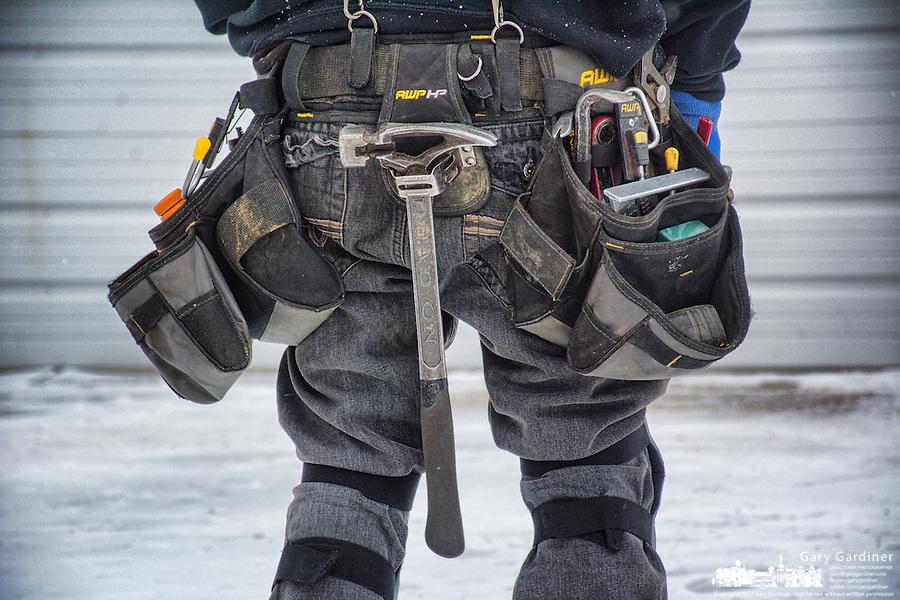 Construction worker's tool belt.