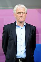 13.06.2012 LWOW - STADION ARENA LWOW ( LVIV UKRAINE STADIUM ARENA LVIV ) PILKA NOZNA ( FOOTBALL ) MISTRZOSTWA EUROPY W PILCE NOZNEJ UEFA EURO 2012 ( EUROPEAN CHAMPIONSHIPS UEFA EURO 2012 ) GRUPA B ( POOL B ) MECZ DANIA - PORTUGALIA ( GAME DENMARK - PORTUGAL ).NZ TRENER (HEAD COACH) MORTEN OLSEN .FOTO MICHAL STANCZYK / CYFRASPORT/NEWSPIX.PL.---.Newspix.pl