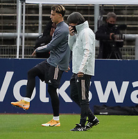 Bundestrainer Joachim Loew (Deutschland Germany), Robin Koch (Deutschland Germany) <br /> - 05.10.2020: Training der Deutschen Nationalmannschaft, Suedstadion Koeln<br /> DISCLAIMER: DFB regulations prohibit any use of photographs as image sequences and/or quasi-video.