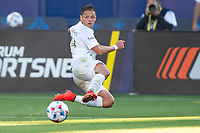 CARSON, CA - JUNE 19: Javier Hernandez #14 of the Los Angeles Galaxy sends crossing ball into the box during a game between Seattle Sounders FC and Los Angeles Galaxy at Dignity Health Sports Park on June 19, 2021 in Carson, California.