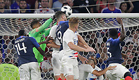 Lyon, France - Saturday June 09, 2018: Zack Steffen, Olivier Giroud during an international friendly match between the men's national teams of the United States (USA) and France (FRA) at Groupama Stadium.