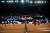 Arena Loire,  Trélazé,  France, 16 April, 2016, Semifinal FedCup, France-Netherlands, Team presentation,<br /> Photo: Henk Koster/Tennisimages