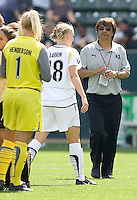LA Sol's head coach Abner Rogers. The LA Sol defeated FC Gold Pride of the Bay Area 1-0 at Home Depot Center stadium in Carson, California on Sunday April 19, 2009.  ..  .
