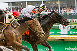 LOUISVILLE, KENTUCKY, MAY 05: Limousine Liberal , #7, ridden by Jose Ortiz, wins the Churchill Downs Stakes on Kentucky Derby Day at Churchill Downs on May 5, 2018 in Louisville, Kentucky. ( Photo by Sue Kawczynski/Eclipse Sportswire/Getty Images)