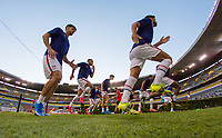 , MEXICO - : United States players warming up during a game between  and undefined at  on ,  in , Mexico.