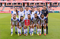 HOUSTON, TX - JANUARY 31: Costa Rica lines up for their starting XI photo during a game between Haiti and Costa Rica at BBVA Stadium on January 31, 2020 in Houston, Texas.