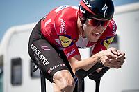 Kasper Asgreen (DEN/Deceuninck - Quick Step)<br /> <br /> Stage 20 (ITT) from Libourne to Saint-Émilion (30.8km)<br /> 108th Tour de France 2021 (2.UWT)<br /> <br /> ©kramon