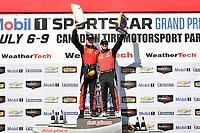 IMSA Continental Tire SportsCar Challenge<br /> Mobil 1 SportsCar Grand Prix<br /> Canadian Tire Motorsport Park<br /> Bowmanville, ON CAN<br /> Saturday 8 July 2017<br /> 57, Chevrolet, Chevrolet Camaro GT4.R, GS, Matt Bell, Robin Liddell, winners, podium, victory lane<br /> World Copyright: Scott R LePage/LAT Images