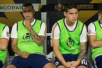 Action photo during the match Colombia vs Costa Rica, Corresponding to  Group -A- of the America Cup Centenary 2016 at NRG Stadium.<br /> <br /> Foto de accion durante el partido Colombia vs Costa Rica, Correspondiente al Grupo -A- de la Copa America Centenario 2016 en el Estadio NRG , en la foto: Edwin Cardona y James Rodriguez de Seleccion de Colombia<br /> <br /> <br /> 11/06/2016/MEXSPORT/Jorge Martinez.