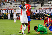 Harrison, NJ - Friday Sept. 01, 2017: Jozy Altidore, Keylor Navas during a 2017 FIFA World Cup Qualifier between the United States (USA) and Costa Rica (CRC) at Red Bull Arena.