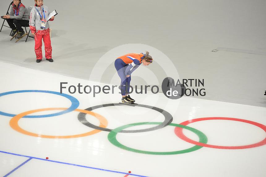 OLYMPIC GAMES: PYEONGCHANG: 14-02-2018, Gangneung Oval, Long Track, 1000m Ladies, Ireen Wüst (NED), ©photo Martin de Jong