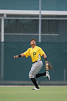 Pittsburgh Pirates John Lantigua (22) tracks a fly ball during an Instructional League intrasquad black and gold game on October 3, 2017 at Pirate City in Bradenton, Florida.  (Mike Janes/Four Seam Images)