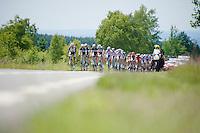 peloton crossing the highest region in Belgium: Les Hautes Fagnes (700m above sea level)<br /> <br /> Ster ZLM Tour 2014