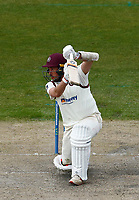 16th April 2021; Emirates Old Trafford, Manchester, Lancashire, England; English County Cricket, Lancashire versus Northants; Adam Rossington of Northamptonshire at bat