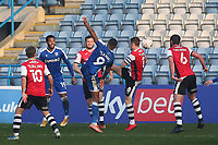 Dominic Samuel scores Gillingham's second goal during Gillingham vs Exeter City, Emirates FA Cup Football at the MEMS Priestfield Stadium on 28th November 2020