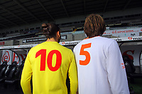 Pictured:<br /> Re: Swansea City FC squad photo-shoot at the Liberty Stadium, south Wales.