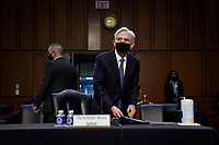 WASHINGTON, DC - FEBRUARY 22: Attorney General nominee Merrick Garland arrives for his confirmation hearing before the Senate Judiciary Committee in the Hart Senate Office Building on February 22, 2021 in Washington, DC. Garland previously served at the Chief Judge for the U.S. Court of Appeals for the District of Columbia Circuit. <br /> Credit: Drew Angerer / Pool via CNP /MediaPunch