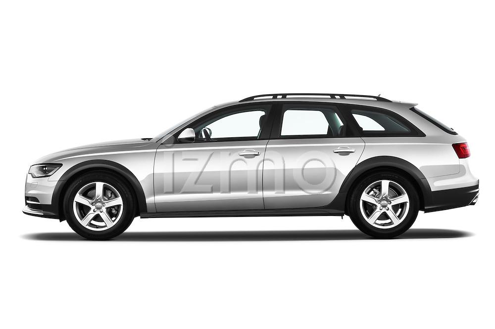 Driver side profile view of a 2013 Audi A6 Allroad Quattro Wagon.