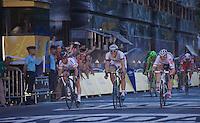 Marcel Sieberg (DEU) wins his 4th stage in the 100th TdF in front of André Greipel (DEU) & Mark Cavendish (GBR)<br /> <br /> Tour de France 2013<br /> (final) stage 21: Versailles - Paris Champs-Elysées<br /> 133,5km
