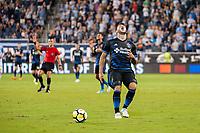 Kansas City, KS - Wednesday August 9, 2017: Valeri Qazaishvili during a Lamar Hunt U.S. Open Cup Semifinal match between Sporting Kansas City and the San Jose Earthquakes at Children's Mercy Park.