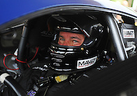 Jun. 3, 2012; Englishtown, NJ, USA: NHRA pro stock driver Rodger Brogdon during the Supernationals at Raceway Park. Mandatory Credit: Mark J. Rebilas-