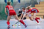 Mannheim, Germany, December 01: During the Bundesliga indoor women hockey match between Mannheimer HC and Nuernberger HTC on December 1, 2019 at Irma-Roechling-Halle in Mannheim, Germany. Final score 7-1. Lisa Mayerhoefer #17 of Mannheimer HC<br /> <br /> Foto © PIX-Sportfotos *** Foto ist honorarpflichtig! *** Auf Anfrage in hoeherer Qualitaet/Aufloesung. Belegexemplar erbeten. Veroeffentlichung ausschliesslich fuer journalistisch-publizistische Zwecke. For editorial use only.