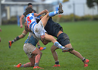 Action from the traditional 2nd XV rugby match between Palmerston North Boys' High School and St Patrick's College Silverstream at CET Arena in Palmerston North, New Zealand on Wednesday, 2 September 2020. Photo: Dave Lintott / lintottphoto.co.nz