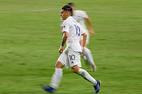CARSON, CA - OCTOBER 18: Cristian Pavon #10 of the Los Angeles Galaxy moves to the ball during a game between Vancouver Whitecaps and Los Angeles Galaxy at Dignity Heath Sports Park on October 18, 2020 in Carson, California.