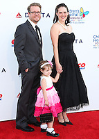 LOS ANGELES, CA, USA - OCTOBER 11: Aaron Hammersley, Hazel Hammersley, Lauren Hammersley arrive at the Children's Hospital Los Angeles' Gala Noche De Ninos 2014 held at the L.A. Live Event Deck on October 11, 2014 in Los Angeles, California, United States. (Photo by Xavier Collin/Celebrity Monitor)