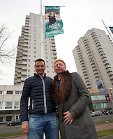09-02-13, Tennis, Rotterdam, qualification ABNAMROWTT, Boris Becker and Richard Krajicek with the becker flag