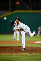 Bowling Green Hot Rods pitcher Resly Linares (30) delivers a pitch during a game against the Peoria Chiefs on September 15, 2018 at Bowling Green Ballpark in Bowling Green, Kentucky.  Bowling Green defeated Peoria 6-1.  (Mike Janes/Four Seam Images)