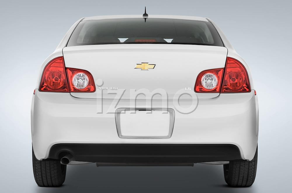 Straight rear view of a 2008 Chevrolet Malibu Sedan