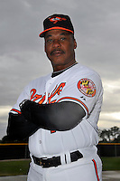 Feb 27, 2010; Tampa, FL, USA; Baltimore Orioles  coach Juan Samuel (11) during  photoday at Ed Smith Stadium. Mandatory Credit: Tomasso De Rosa