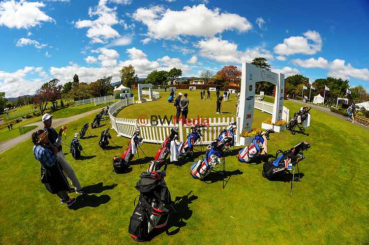 2017 Asia-Pacific Amateur Championship final practice day at Royal Wellington Golf Club in Wellington, New Zealand on Wednesday, 25 October 2017. Photo: Dave Lintott / lintottphoto.co.nz