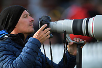 Getty Images photographer Hagen Hopkins shoots the Dream11 Super Smash cricket final between the Wellington Firebirds and Auckland Aces at Basin Reserve in Wellington, New Zealand on Sunday, 19 January 2020. Photo: Dave Lintott / lintottphoto.co.nz