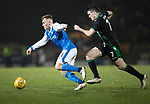 St Johnstone v Hibs…16.03.18…  McDiarmid Park    SPFL<br />George Williams is tracked by John McGinn<br />Picture by Graeme Hart. <br />Copyright Perthshire Picture Agency<br />Tel: 01738 623350  Mobile: 07990 594431