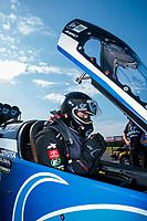 Jul 19, 2020; Clermont, Indiana, USA; NHRA top fuel driver Tony Schumacher during the Summernationals at Lucas Oil Raceway. Mandatory Credit: Mark J. Rebilas-USA TODAY Sports