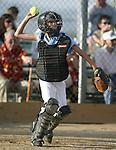 Recreational softball action in Gardnerville, Nev., on June 16, 2003..Photo by Cathleen Allison