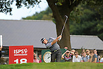 ISPS Handa Wales Open Golf final day at the Celtic Manor Resort in Newport, UK. : Lee Westwood of England tees off on the 18th.